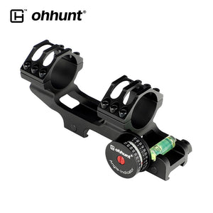 ohhunt 25.4mm 30mm Picatinny 20 MOA Scope Mount Extended Tactical Rings with Angle Cosine Indicator Kit Bubb Level
