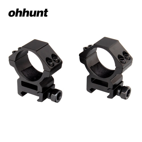ohhunt 30mm 2PCs Medium Profile 20mm Picatinny Weaver Rings Tactical Hunting Scope Mounts Accessories