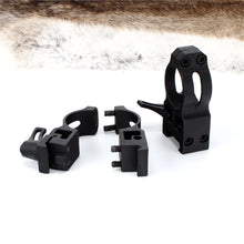 Load image into Gallery viewer, ohhunt 25.4mm 1 inch 2PCs High Low Profile Cast Steel Quick Release 21mm Picatinny Weaver Tactical Hunting Scope Mounts Rings