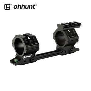 ohhunt 11mm Dovetail Rifle Scope Rings Hunting 25.4mm 30mm Scope Mount Can Removed Top Picatinny Rail with Two Bubble Level