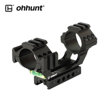"Load image into Gallery viewer, ohhunt 25.4mm 30mm Diameter 11mm 3/8"" Dovetail 20mm Picatinny Weaver Hunting Riflescope Rings Mount with Bubble Level Extra Rail"