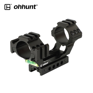 "ohhunt 25.4mm 30mm Diameter 11mm 3/8"" Dovetail 20mm Picatinny Weaver Hunting Riflescope Rings Mount with Bubble Level Extra Rail"