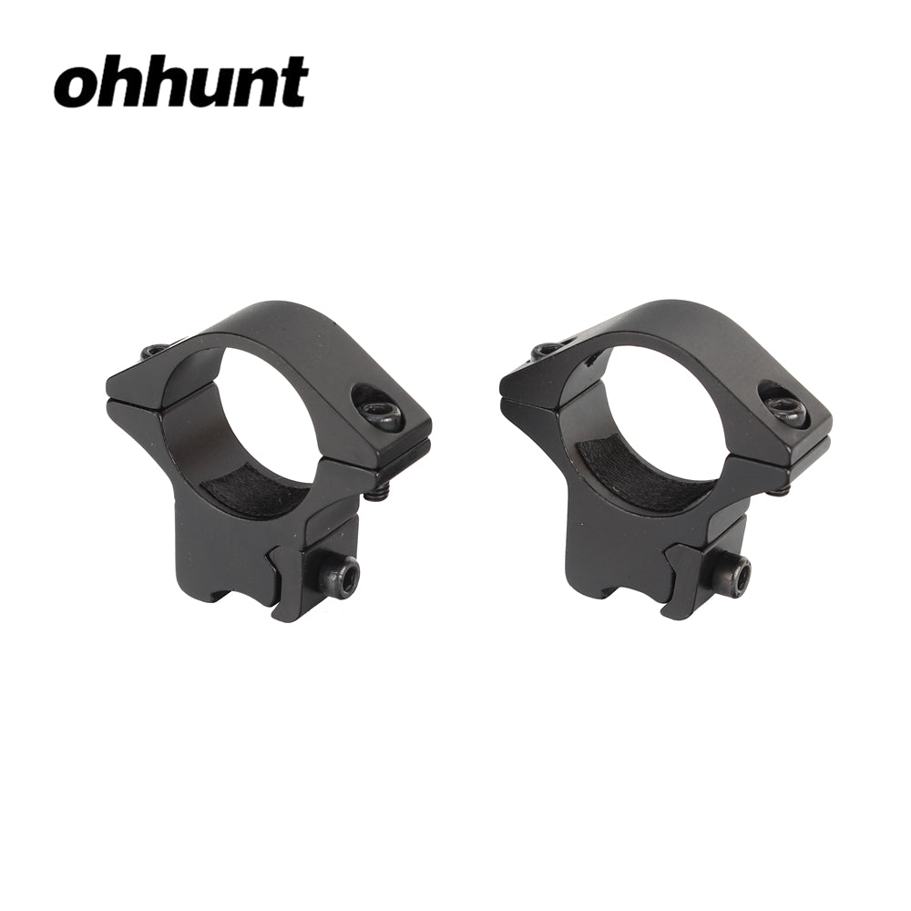 ohhunt 25mm 1 inch 2PCs Med Profile Airgun Rings with Rifle Scope Rails Mount for Flashlight 11mm Hunting Tactical Accessories