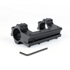 ohhunt Long 10cm High Profile 11mm Dovetail Airgun 25.4mm Rings with Stop Pin 20mm Rail For Hunting Tactical Rifle Scope Mount