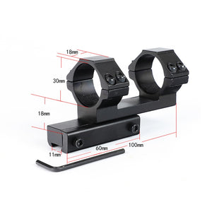 ohhunt 30mm Offset 11mm Dovetail .22 Airgun Rings Mount Bi-direction Dia Hunting Tactical Rifle Scope Mounts Accessories