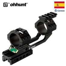 "Load image into Gallery viewer, ohhunt 11mm 3/8"" Dovetail 20mm Picatinny Weaver Rifle Scope Rings Hunting 25.4mm 30mm Offset Scope Mount Rail Bubble Level"