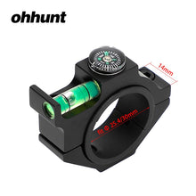 Load image into Gallery viewer, ohhunt 25.4mm 30mm 34mm Hunting Scope Tube Bubble Level with Compass Tactical Rifle Scope Alloy Mounts