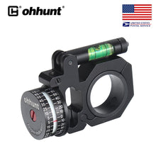 Load image into Gallery viewer, ohhunt High Accuracy Angle Cosine Indicator Kit And Bubble Level Fit 1 inch 30mm Tube Scope
