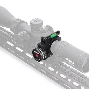 ohhunt High Accuracy Angle Cosine Indicator Kit And Bubble Level Fit 1 inch 30mm Tube Scope