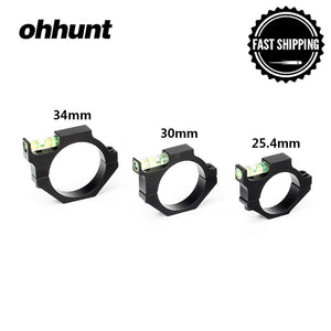 ohhunt 25.4mm 30mm 34mm Scope Tube Bubble Level Hunting Tactical Rifle Scope Alloy Mounts Accessories