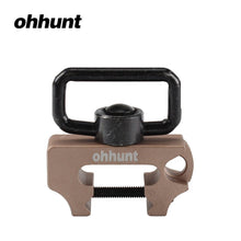 Load image into Gallery viewer, Ohhunt Universal Hunting Tactical Rifle Push Button Quick Detach Gun Multi Sling Swivel Mount Fit Weaver Picatinny Rails