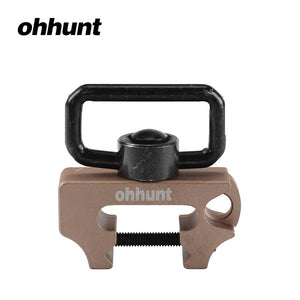 Ohhunt Universal Hunting Tactical Rifle Push Button Quick Detach Gun Multi Sling Swivel Mount Fit Weaver Picatinny Rails