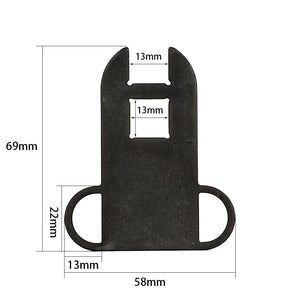 ohhunt Hunting Tactical 7.62x39 AK 47 Sling Adapter Steel Ambidextrous Dual Loop for 4 or 6 Position Stock
