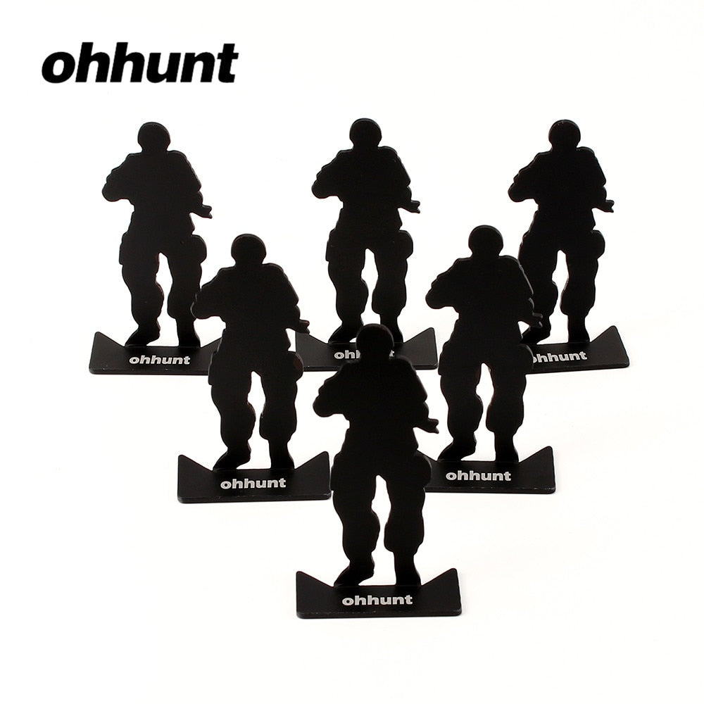 ohhunt Metal Target Modle 80x44mm Black For Hunting Shooting Exercise