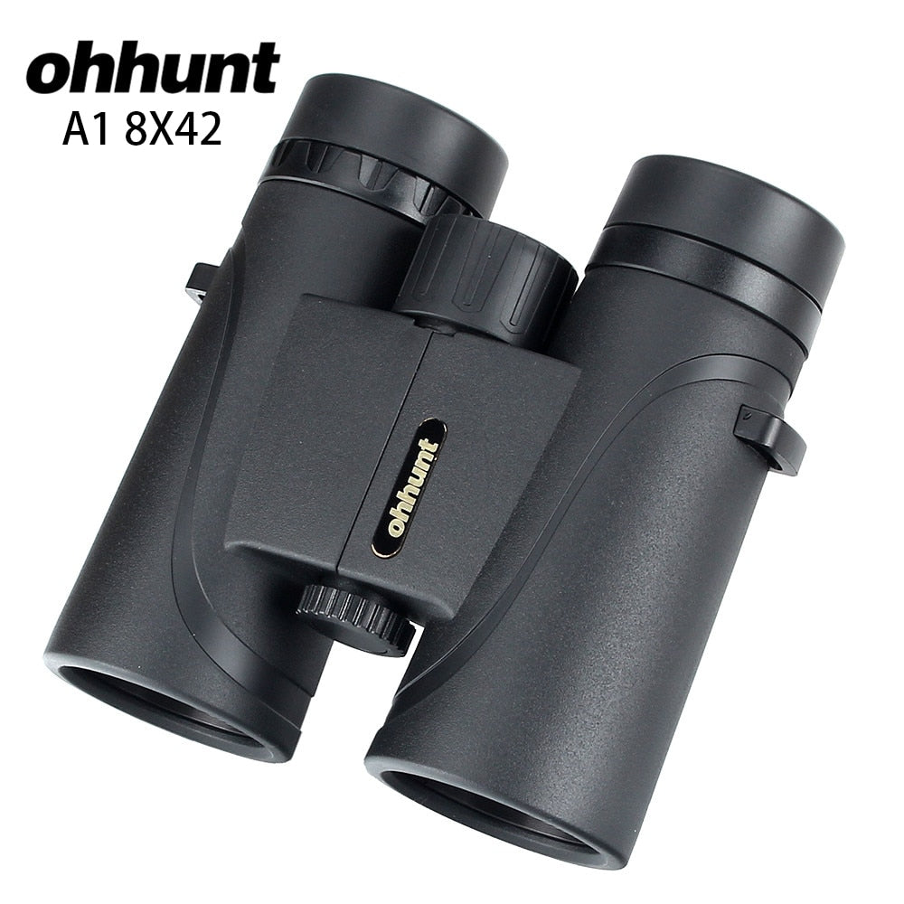 ohhunt A1 8X42 Binoculars Waterproof Fogproof Telescope Wide-angle Powerful Bright Hunting Optics Camping Hiking Binocular
