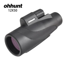 Load image into Gallery viewer, ohhunt 12x50 Monocular Waterproof Fogproof Wide-angle Bright Telescope For Hunting Optics Camping Hiking Travel Concert