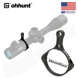 ohhunt Scope Throw Lever 44mm 45mm Tube Dia. Aluminum Magnification Adjustment Ring for Tactical Rifle Scope