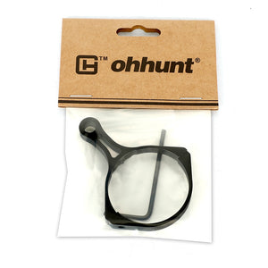 ohhunt Hunting Switch View Throw Lever Scope Mount 44mm 45mm Tube Dia. Magnification Adjustment Ring for Tactical Riflescope
