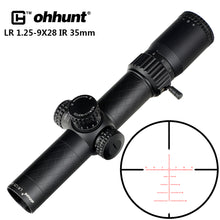 Load image into Gallery viewer, ohhunt LR 1.25-9X28 35mm Tube Compact Hunting Rifle Scopes Glass Etched Reticle Red Illuminated Sight Turrets Lock Reset Scope