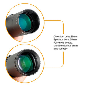 ohhunt LR 1.25-9X28 35mm Tube Compact Hunting Rifle Scopes Glass Etched Reticle Red Illuminated Sight Turrets Lock Reset Scope