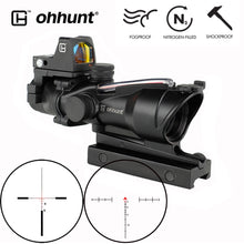 Load image into Gallery viewer, ohhunt 4X32 Real Fiber Rifle Scope with Red Dot Sight Red Green Illuminated Scope for cal .223 .308 Rifle
