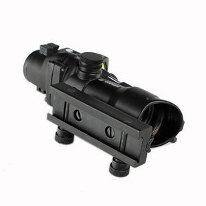 ohhunt 4X32 Real Fiber Rifle Scope with Red Dot Sight Red Green Illuminated Scope for cal .223 .308 Rifle