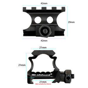 ohhunt AR-15 M16 Red Dot Super Slim Picatinny Riser Mount  Adapter Metal Compact Hunting Laser 20mm Picatinny Rail Base