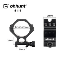 Load image into Gallery viewer, ohhunt 2PCs Riflescope Mount Rings 30mm 34mm 35mm Tube for Hunting Tactical Optical Sights Lasers Flashlights 2 Styles