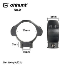 Load image into Gallery viewer, ohhunt 2PCs Tactical Steel Rings 1 inch 30mm Dovetail Picatinny Rail Low High Medium Profile Scope Mount for Hunting Riflescope