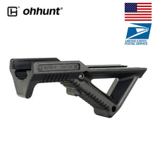 Load image into Gallery viewer, High Quality!!! Tactical Picatinny Rail Angled Fore Grip Handguard Hand Stop Barricade Rest Standard Interface Black