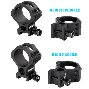ohhunt 30mm 34mm 35mm Tactical Medium High Profile Picatinny Rifle Scope Mount Hunting Riflescopes Rings