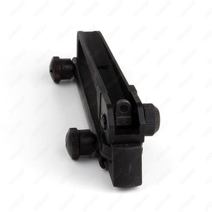 ohhunt Detachable Standard Carry Handle Mount M4 M16 AR15 Aluminum and Steel Construction Rear Adjustable for 20mm Rail