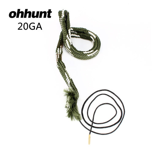 ohhunt Tactical Hunting Bore Snake Gun Cleaning 20 Cal GA Gauge Boresnake Shotgun Barrel Bronze Cleaner Kit