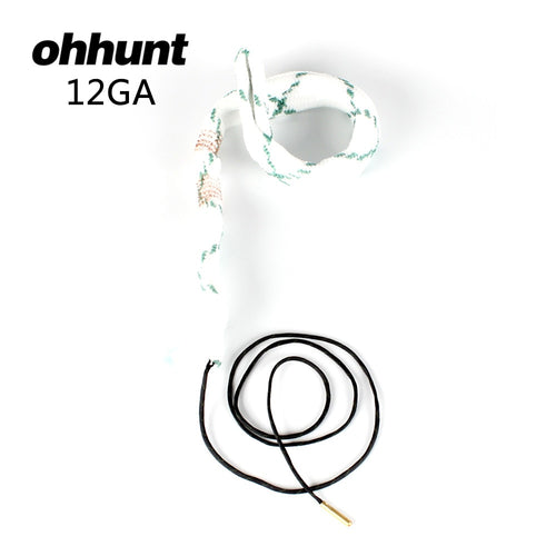 ohhunt Bore Snake 12 GA CAL Gauge Boresnake Shotgun Barrel Bronze Cleaner Kit Hunting Gun Cleaning Accessories