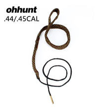 Load image into Gallery viewer, ohhunt Tactical Hunting Bore Snake Gun Cleaning .44 .45 Cal GA Gauge Boresnake Shotgun Barrel Bronze Cleaner Kit