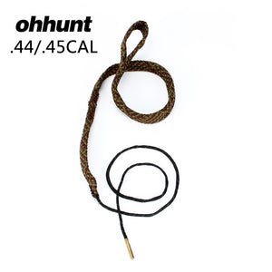 ohhunt Tactical Hunting Bore Snake Gun Cleaning .44 .45 Cal GA Gauge Boresnake Shotgun Barrel Bronze Cleaner Kit