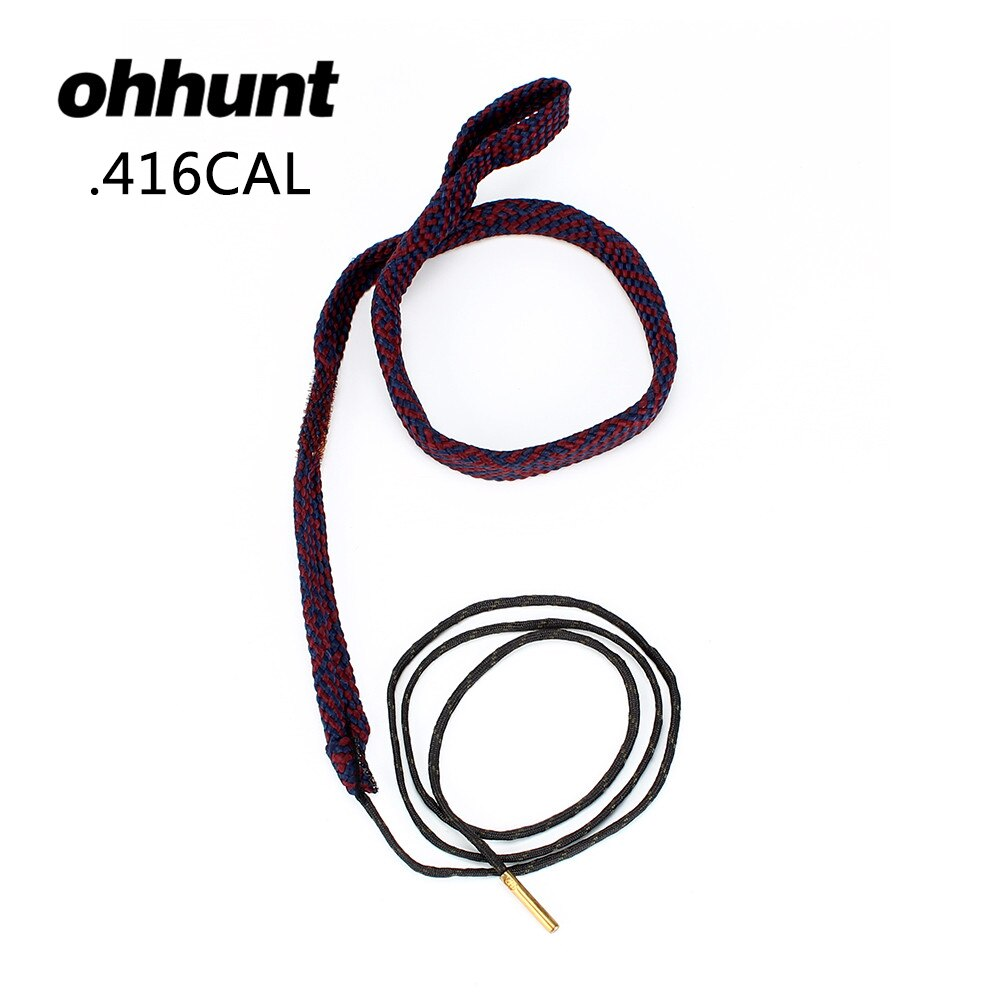 ohhunt Tactical Hunting Bore Snake Gun Cleaning For .416CAL .44 45-70 458 460 Caliber Rifles