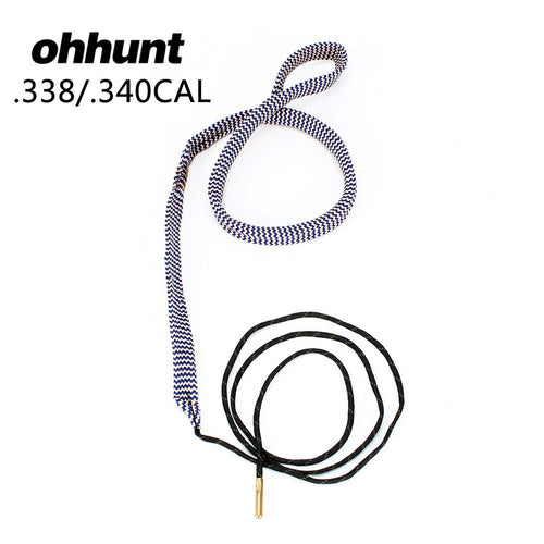 ohhunt Bore Snake .338 .340 Cal GA Gauge Bore snake Shotgun Barrel Bronze Cleaner Kit Hunting Gun Cleaning