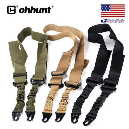 ohhunt Nylon Multi-function Adjustable Two Point Tactical Rifle Gun Sling Hunting Gun Strap