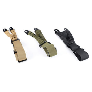 ohhunt Nylon Multi-function Adjustable Two Point Tactical Rifle Gun Sling Hunting Gun Strap Outdoor Airsoft Mount Bungee System