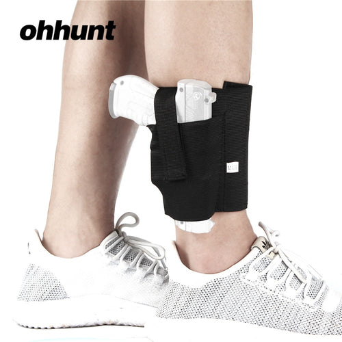 ohhunt Ankle Holster Adjustable Neoprene Elastic Wrap Concealed Carry Gun Holster Pistol Handgun Fits Men Women Black