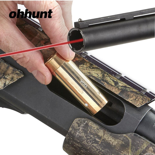 Ohhunt 303 6.5x55 8X57JS 8X57JRS 8MM .30-06/25-06/270WIN 7MM 9.3X62 300WIN 12G 20GA Cartridge Red Laser Bore Sighter Boresighter