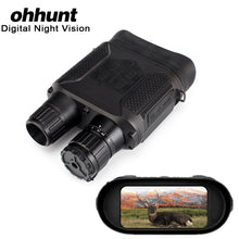 Load image into Gallery viewer, ohhunt 7X31 Digital Night Visions Binoculars Hunting Nightvision Built-in IR Illuminator Photo Video Recorder 2 Inch TFT Display