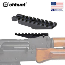 Load image into Gallery viewer, ohhunt AK Rear Sight Rail Standard Tactical 1913 Picatinny Weaver Hunting Scope Mount For AK47 AK74 Low Profile Red Dot Optics