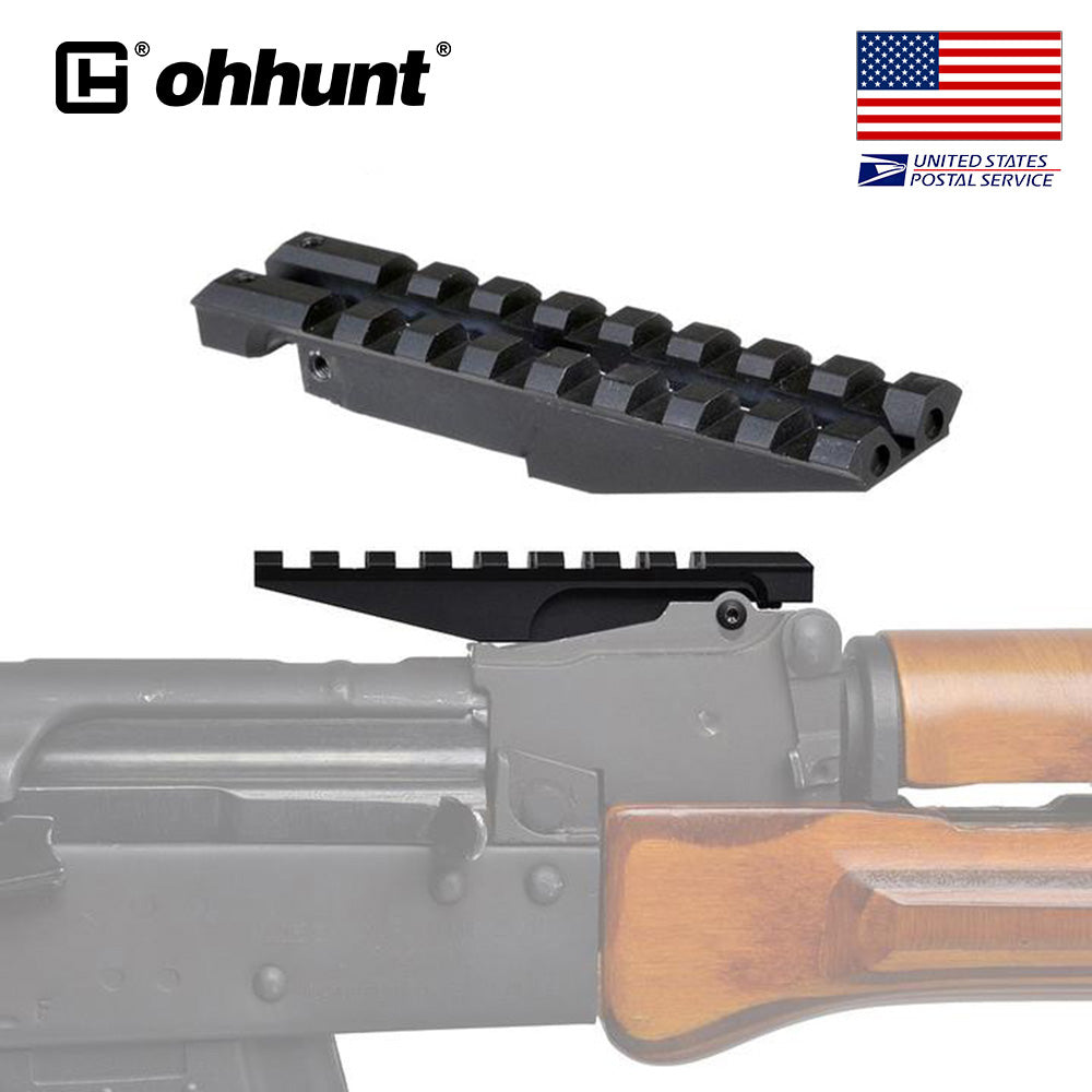 ohhunt AK Rear Sight Rail Standard Tactical 1913 Picatinny Weaver Hunting Scope Mount For AK47 AK74 Low Profile Red Dot Optics