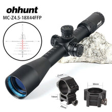Load image into Gallery viewer, ohhunt MC-Z 4.5-18X44 FFP First Focal Plane Hunting Optical Riflescope Side Parallax Z1000 Glass Etched Reticle Lock Reset Scope