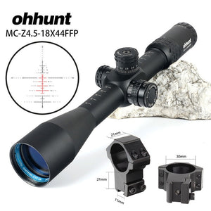ohhunt MC-Z 4.5-18X44 FFP First Focal Plane Hunting Optical Rifle Scope Side Parallax Z1000 Glass Etched Reticle Lock Reset Scope