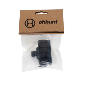 ohhunt Metal Compact Riser Mount Adapter fit Hunting AR-15 M16 Red Dot Laser Scope 20mm Picatinny Rail Base with Bubble Level