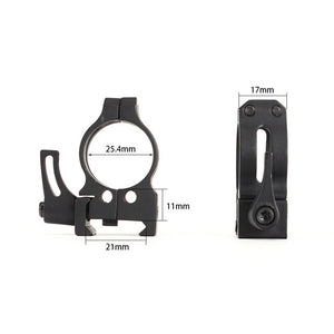 ohhunt 25.4mm 1 inch 2PCs High Low Profile Cast Steel Quick Release 21mm Picatinny Weaver Tactical Hunting Scope Mounts Rings