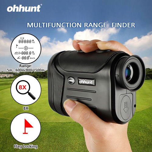 ohhunt 8X 600M/800M/1500M Multifunction Rangefinders Golf Hunting Monocular Range Finder Distance Meter Outdoor Measuring